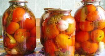 Заготовка помидор с лимонной кислотой на зиму