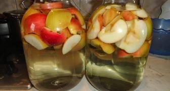 Простой рецепт компота из яблок на зиму
