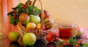 Компот из яблок и шиповника на зиму