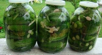 Маринованные огурцы с горчицей, луком и зеленью