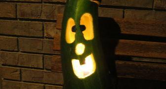 Веселый фонарь на Хэллоуин из кабачка своими руками