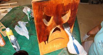 Фонарь на Хэллоуин в деревенском стиле своими руками