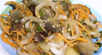 Баклажаны по корейски с капустой на зиму