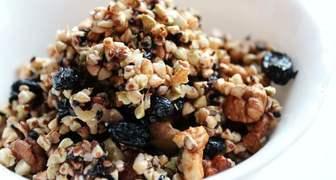Орехово-медовая смесь с гречкой для повышения гемоглобина
