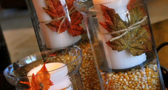 Праздничный подсвечник ко Дню Благодарения