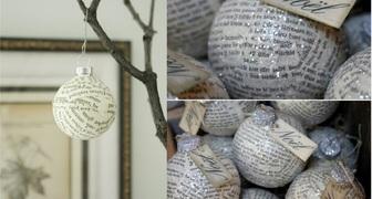 Новогодние шарики на елку своими руками