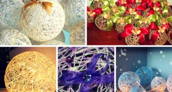 Красивые шарики на новогоднюю елку своими руками