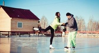 Веселые развлечения на льду во время Новогодних каникул