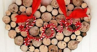 Необычная деревянная валентинка на День Святого Валентина фото