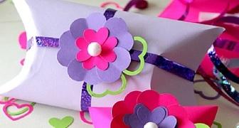 Оригинальная коробочка для подарка на День Святого Валентина фото