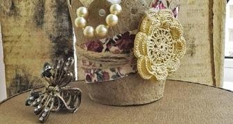Гламурный горшочек или вазочка из торфа своими руками