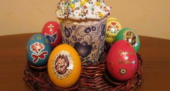 Плетеная корзинка на Пасху для кулича и яиц своими руками