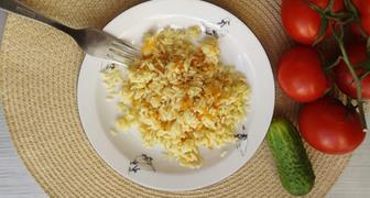 Быстрый и вкусный рис с овощами на сковороде рецепт фото