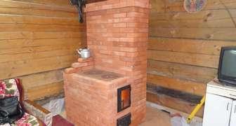 Маленькая кирпичная печка для дачи своими руками фото