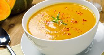 Диетический суп-пюре из тыквы с курицей