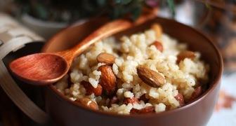 Рисовая кутья с миндалем и изюмом на Рождество