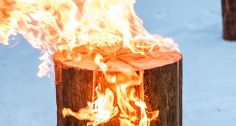 Оригинальный метод обогрева в экстремальных условиях от Husqvarna фото