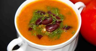 Суп с консервированной фасолью - рецепт классический вегетарианский