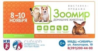 Выставка Зоомир. Домашние животные в Красноярске